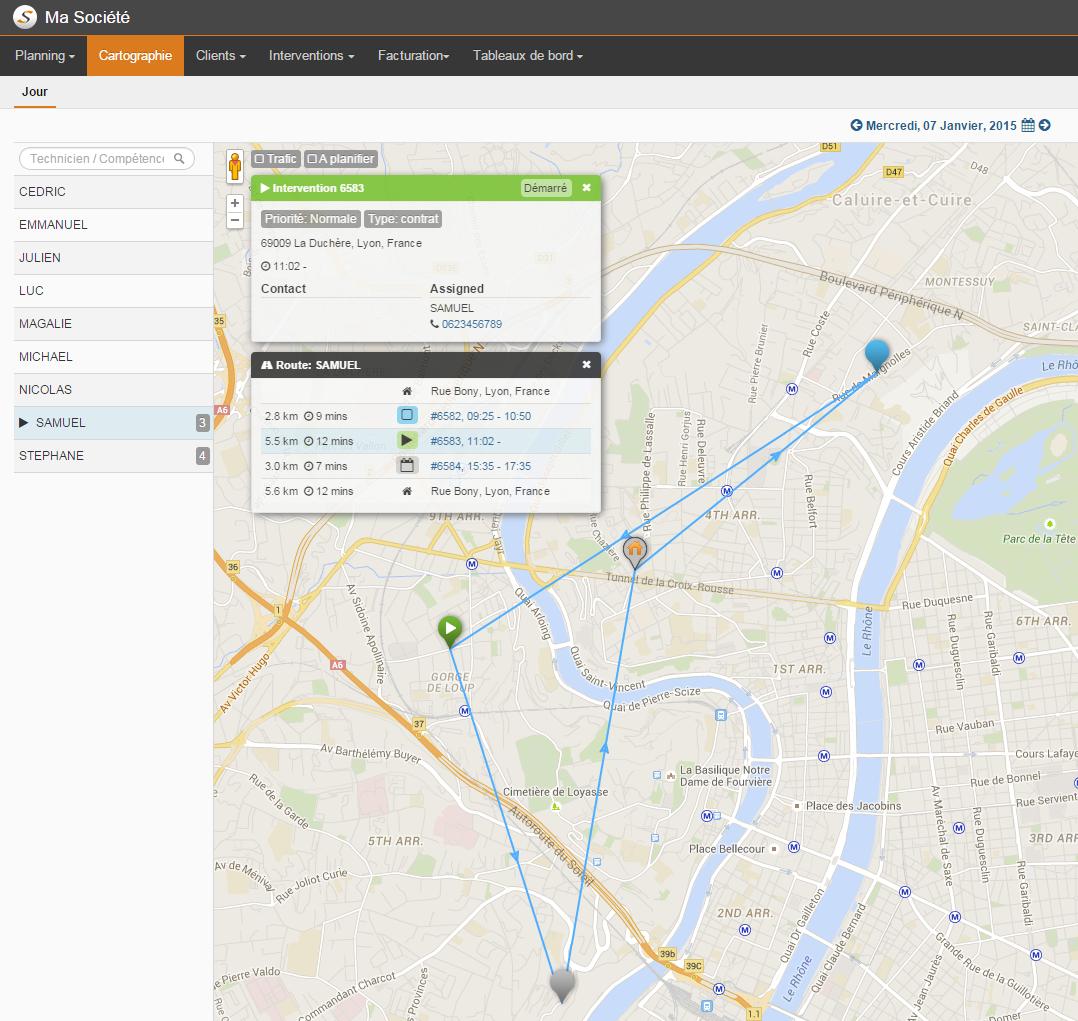 nouveau module cartographique - optimisation de planification